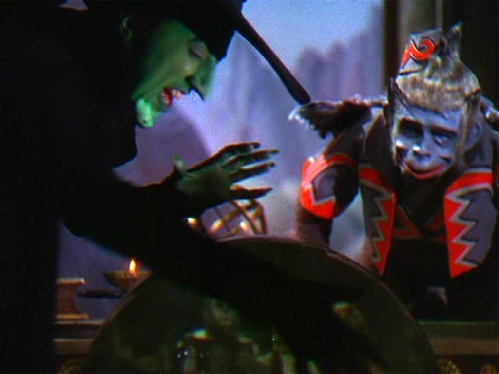 The flying monkeys in the Wizard of Oz are a metaphor...